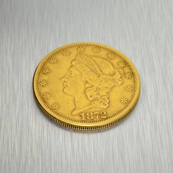 1872-CC $20 U.S. Liberty Head Gold Coin - Investment