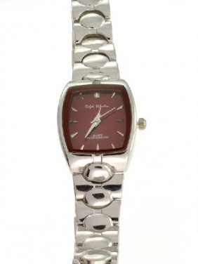 Ralph Valentin (Red & Silver ColorSquare) Women's Watch