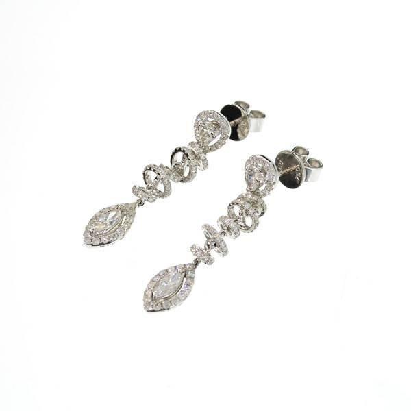 APP: 13.6k 18 kt. White Gold, 1.52CT Diamond Earrings