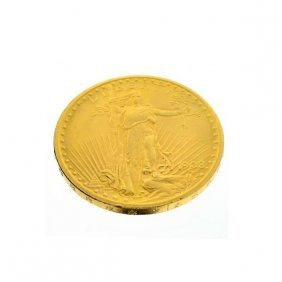1908 U.S. $20 Saint Gaudens Gold Coin - Investment