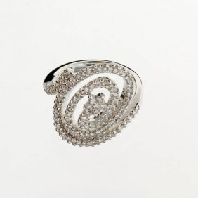 APP: 5k 18 Kt. White Gold, 0.70CT Diamond Ring