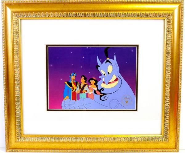 Disney Serigraph Cel, (Aladdin) Museum Framed.