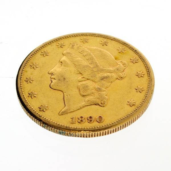 1890-S U.S. $20 Liberty Head Gold Coin - Investment
