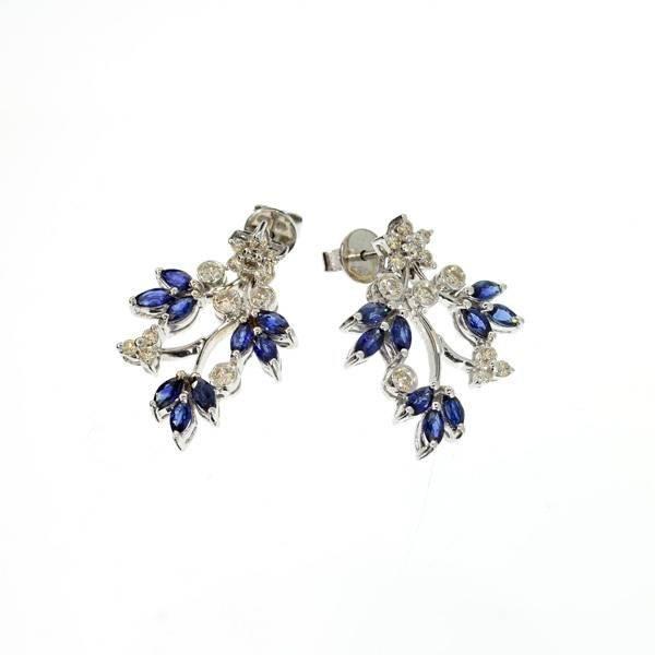 APP: 8k 18kt White Gold, 2CTSapphire & Diamond Earrings