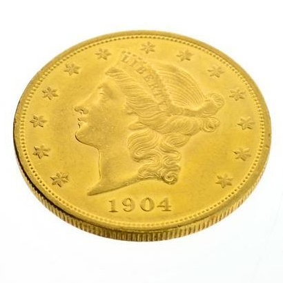 1904 U.S. $20 Liberty Head Gold Coin - Investment