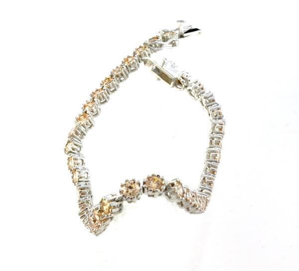 Custom Silver French Cubic Zirconium Tennis Bracelet