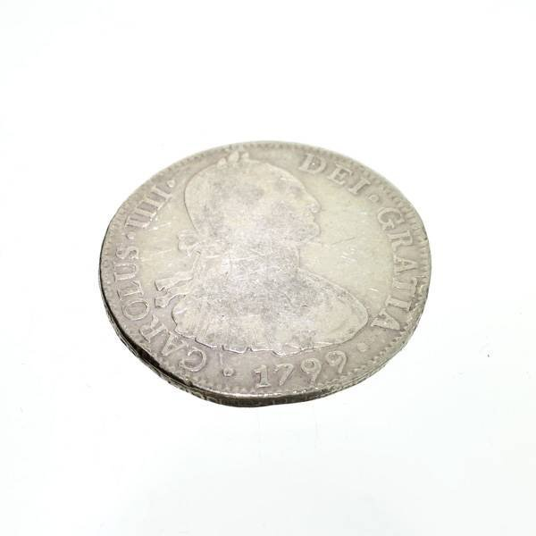 1799 Eight Reales First Silver Dollar Coin - Investment