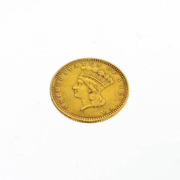 1857 U.S. &1 Indian  Head Gold  Coin - Investment