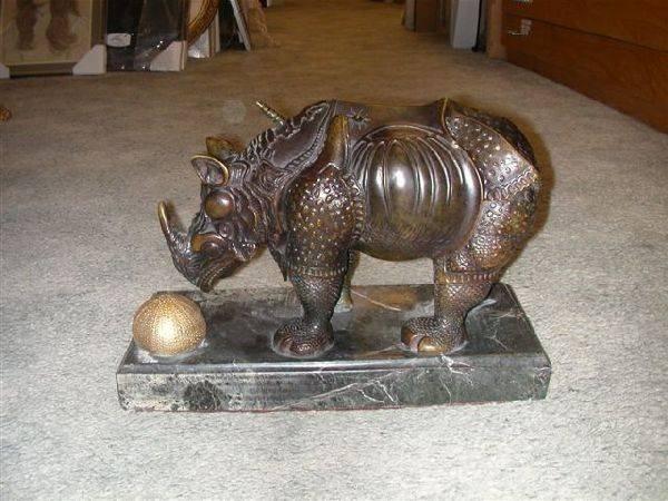 Salvador Dali Sculpture - The Rhino