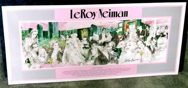 Hand Signed LeRoy Neiman: Polo Lounge