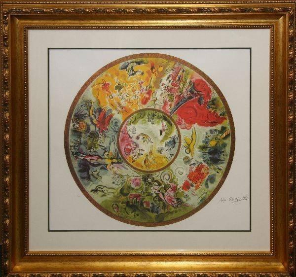Marc Chagall 'Paris Opera' Musuem Framed & Matted Print
