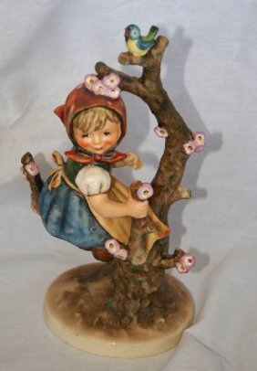 Hummel Collectible Figurine-large-Girl In Cherry Tree