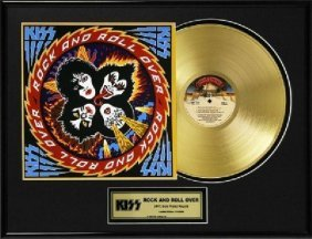 "KISS ""Rock And Roll Over"" Gold LP"
