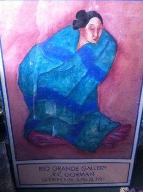 Signed Rio Grande Gallery Poster - R.C. Gorman