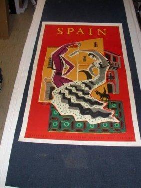 Spain By Villemot On Linen