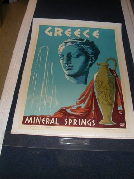Greece Mineral Springs OTE on Linen
