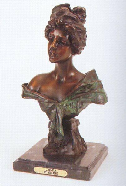 """Reissue """"Carmela"""" Bronze by Villanis"""