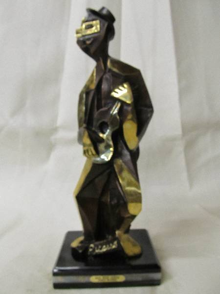 """Reissue """"Man with Guitar"""" Bronze Inspired by Picasso"""