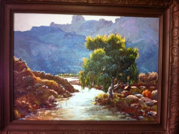 Framed Oil Painting on Board By Bill Bender - 1967