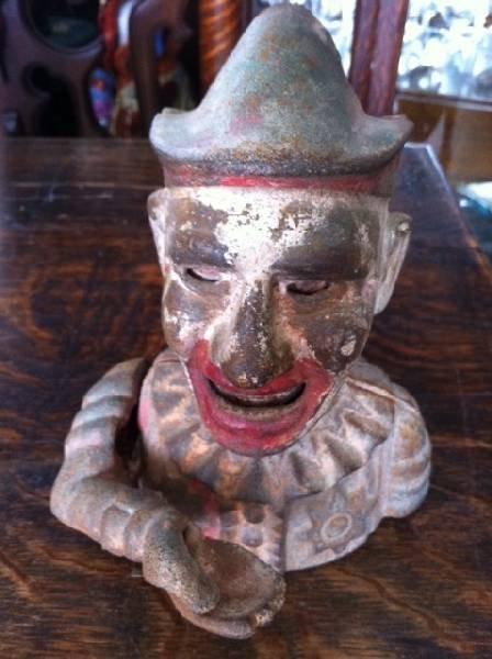 Cast Iron Mechanical Banks - Clown