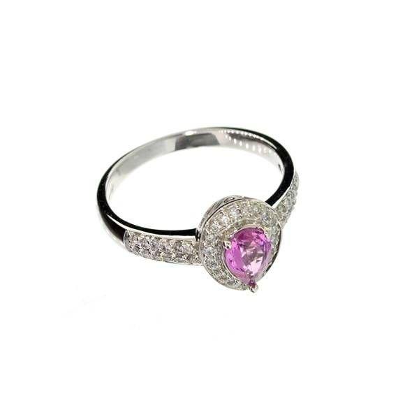 APP: 8k 14kt White Gold, 0k Sapphire & Diamond Ring