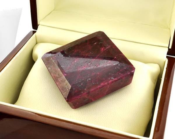 APP: 53.1k 984.20CT Square Cut Ruby Gemstone