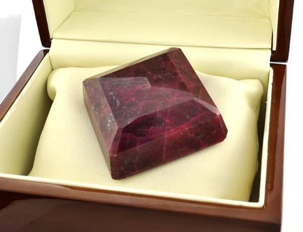 APP: 53.1k 984.20CT Square Cut Ruby Gemstone - 2