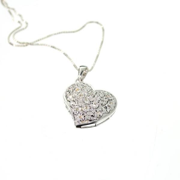 0CT Diamond & Platinum Sterling Silver Pendant