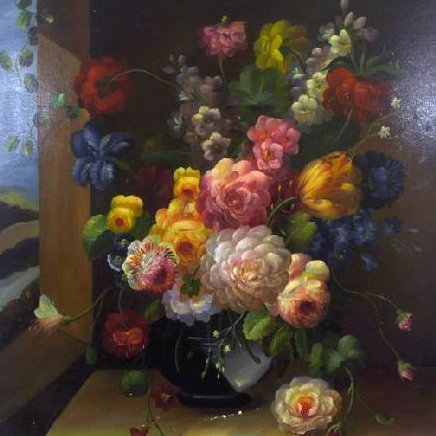 Oil Painting - Flowers in a Vase- 23x27