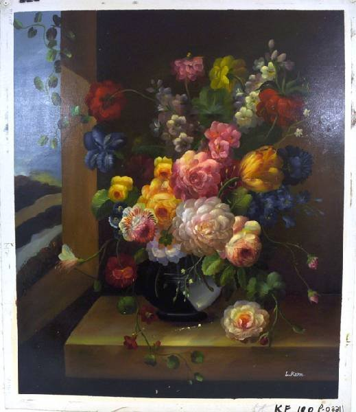 Oil Painting - Flowers in a Vase- 23x27 - 2