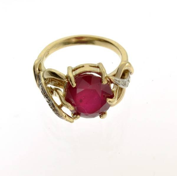 APP: 9k 14 kt. Yellow & White Gold, 5.64CT Ruby Ring