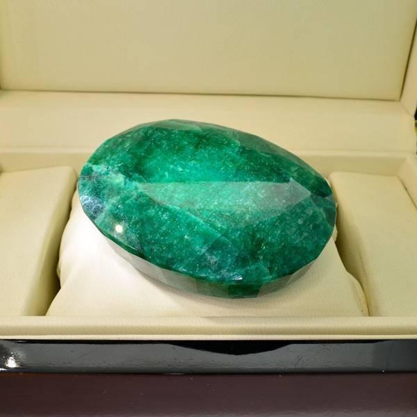 APP: 42.5k 1,212.85CT Oval Cut Emerald Gemstone