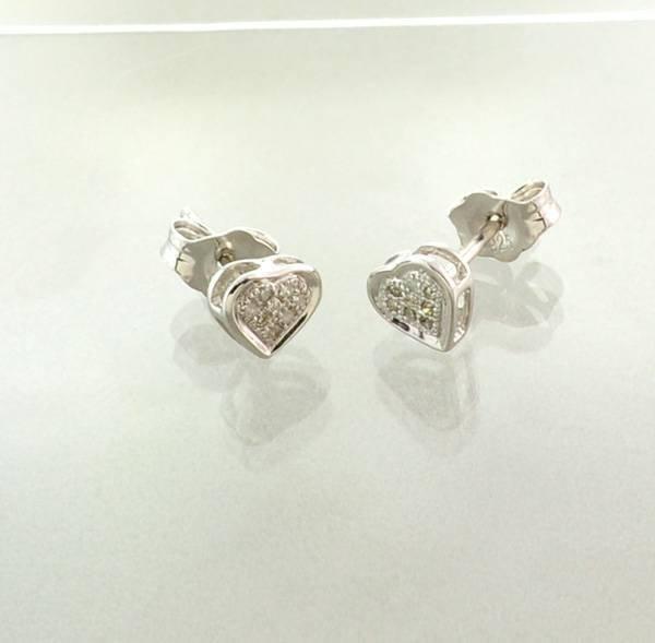 APP: 0.2k 0.05CT Diamond & Sterling Silver Earrings
