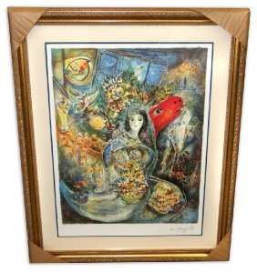 Marc Chagall 'Bella' Museum Framed & Matted Print