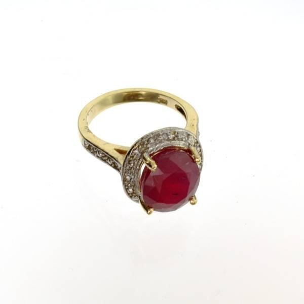 APP: 10.5k 14 kt. Yellow & White Gold, 6.87CT Ruby Ring