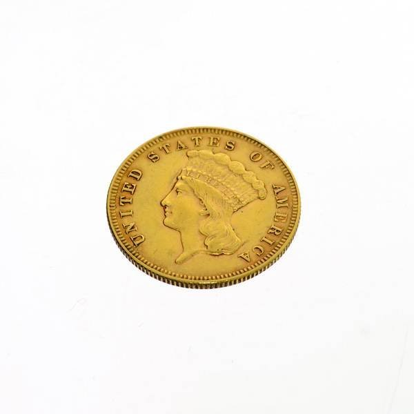 1878U.S. $3 Indian Princess Gold Coin - Investment