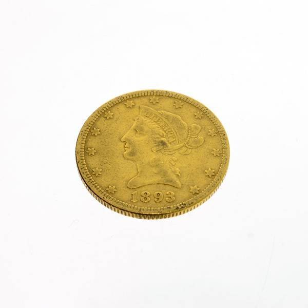 1893 U.S. $10 Liberty Head Gold Coin - Investment