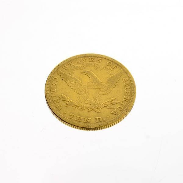 1893 U.S. $10 Liberty Head Gold Coin - Investment - 2