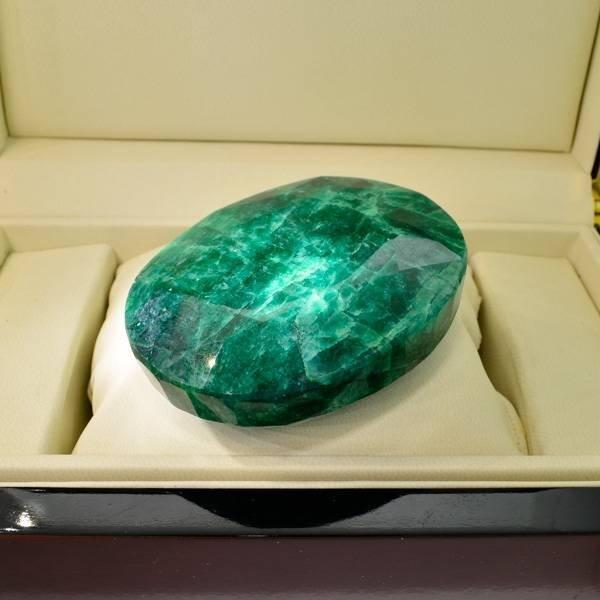 APP: 44k 1,257.30CT Oval Cut Emerald Gemstone