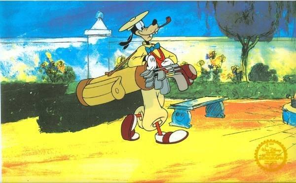 Disney Cel, Goofy Golfing at Park w/Certificate