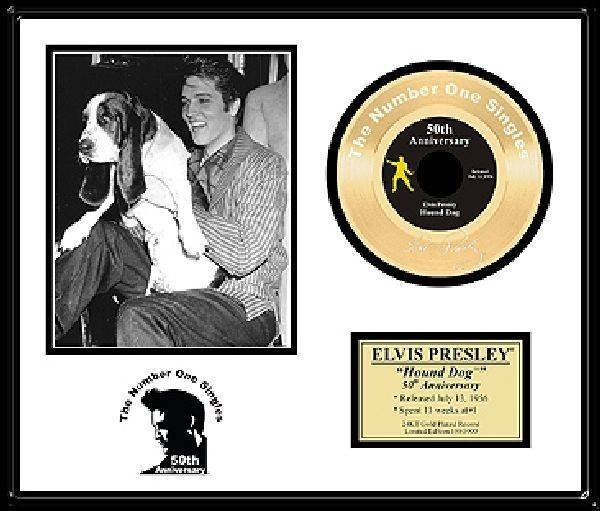 "ELVIS PRESLEY ""Hound Dog "" Gold Record-50th Anniversary"