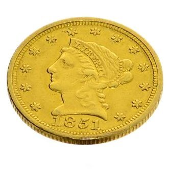 1851 U.S $2.5. Liberty Head Gold Coin - Investment