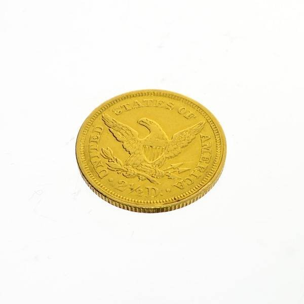 1851 U.S $2.5. Liberty Head Gold Coin - Investment - 2