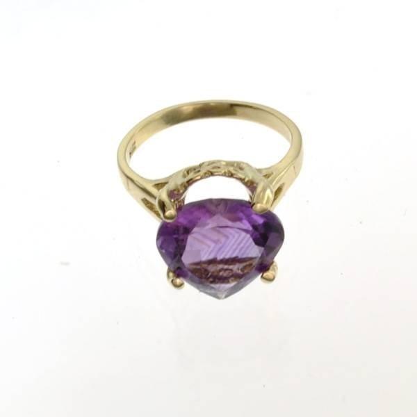 APP: 1k 14kt Yellow & White Gold, 5.48CT Amethyst Ring