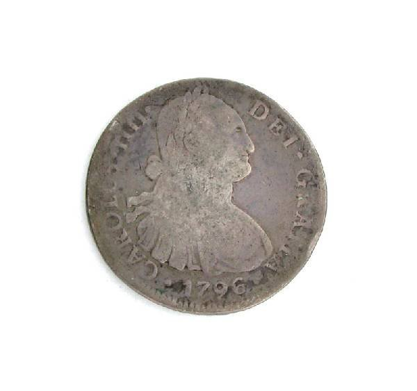 1796 Eight Reales First Silver Dollar Coin - Investment