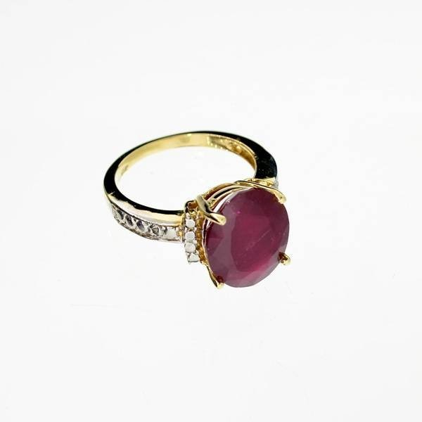 APP: 7.7k 14 kt. Yellow & White Gold, 6.44CT Ruby Ring