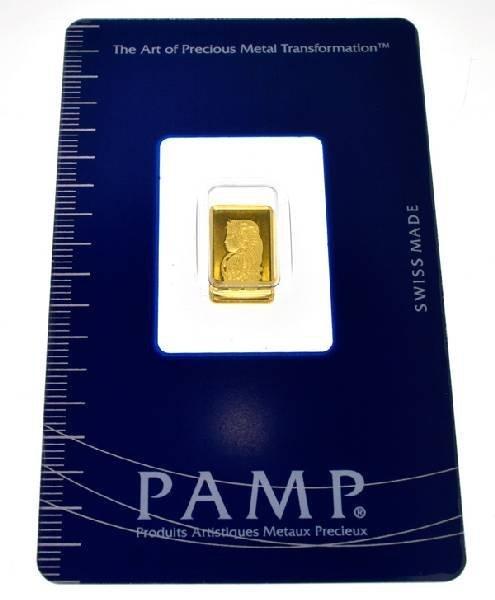 1 gram (999.9) Fine Gold Credit Suisse Metal Plate Coin