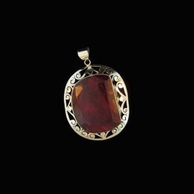 APP: 31.3k 116.61CT Ruby & Sterling Silver Pendant
