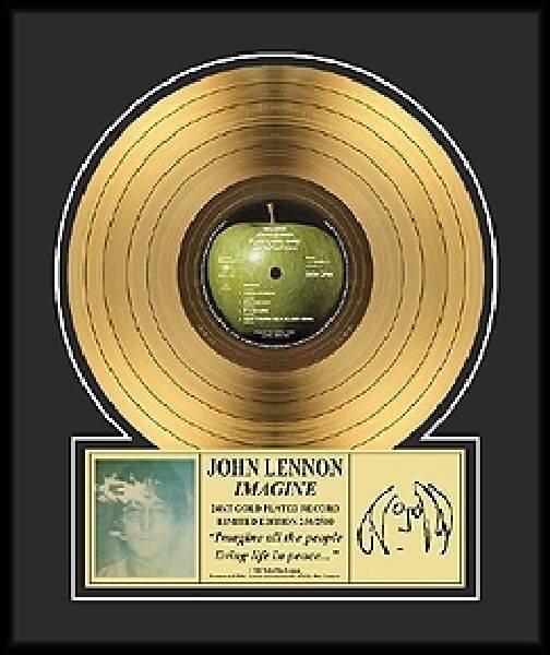 "JOHN LENNON ""Imagine"" Gold LP-Limited Edition"