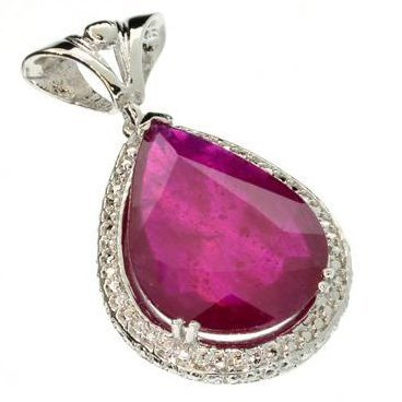 APP: 14.3k 19.30CT Ruby & Sterling Silver Pendant
